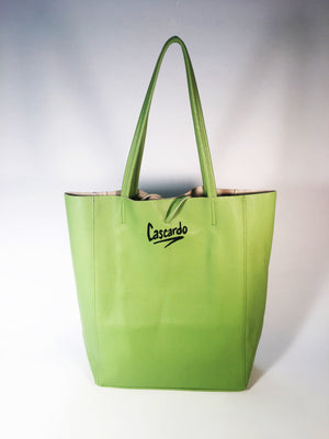 Hand Painted Cascardo Tote Bag (Olive)