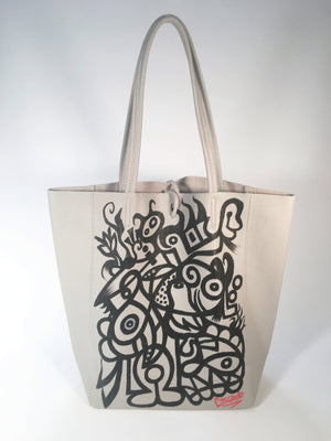 Hand Painted Cascardo Tote Bag (Grey)
