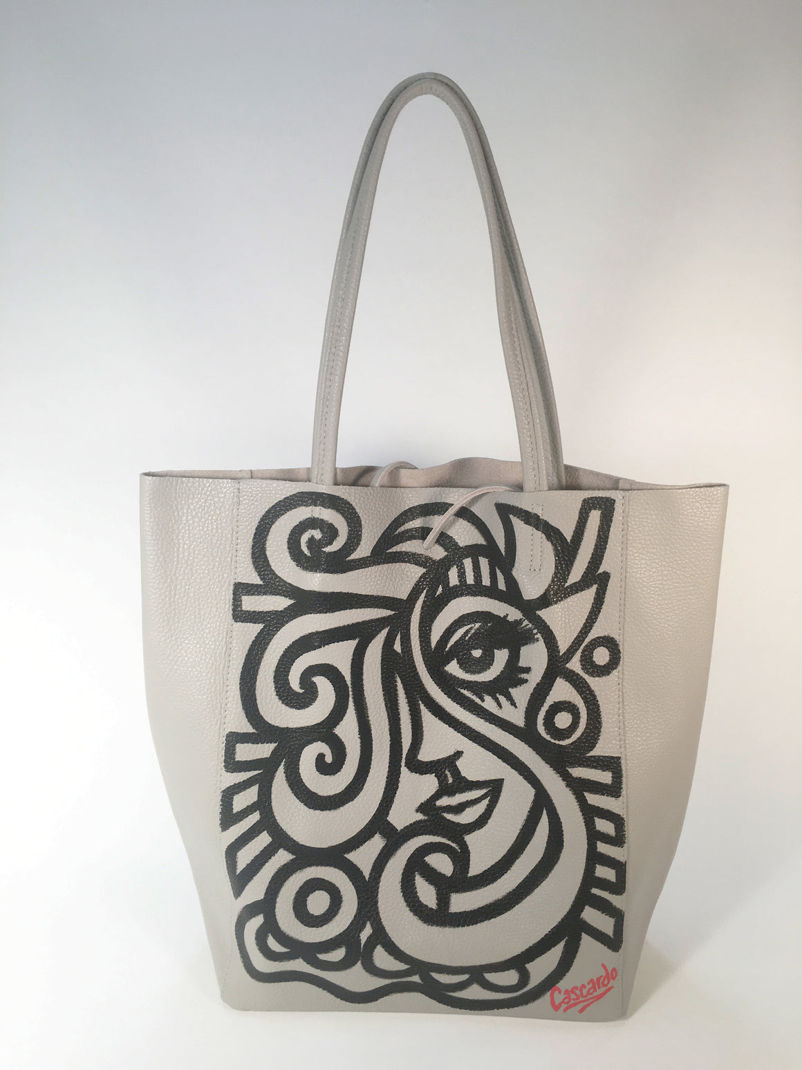 Hand Painted Cascardo Tote Bag (Grey 2)