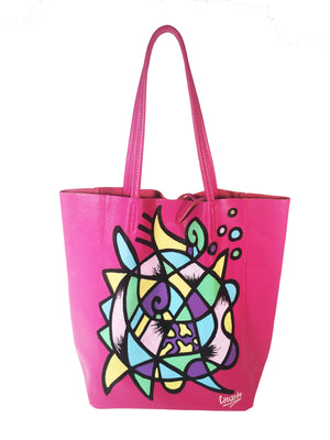 Hand Painted Cascardo Tote Bag (Pink)