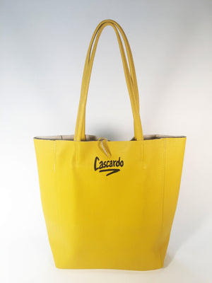 Hand Painted Cascardo Tote Bag (Yellow)