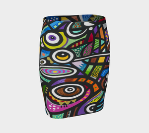 Coral Reef Fitted Skirt