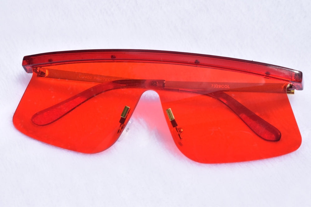 Oversized Stella Sunglasses - Red