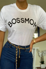 Boss Mom Tee - White