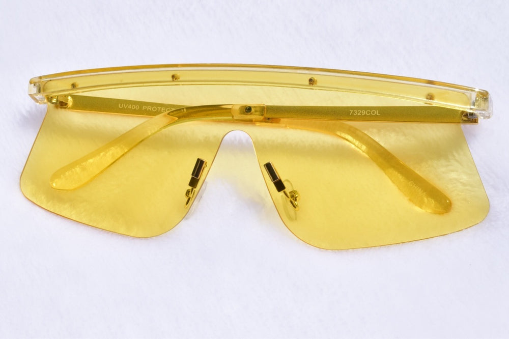 Oversized Stella Sunglasses  - Yellow