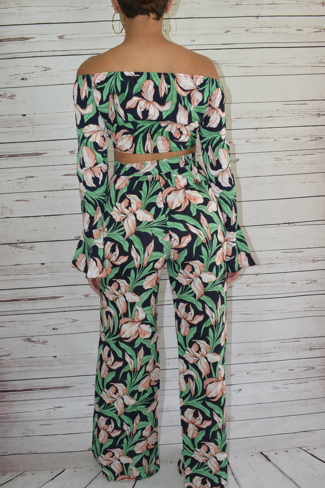 Tropical Green Two Piece Set