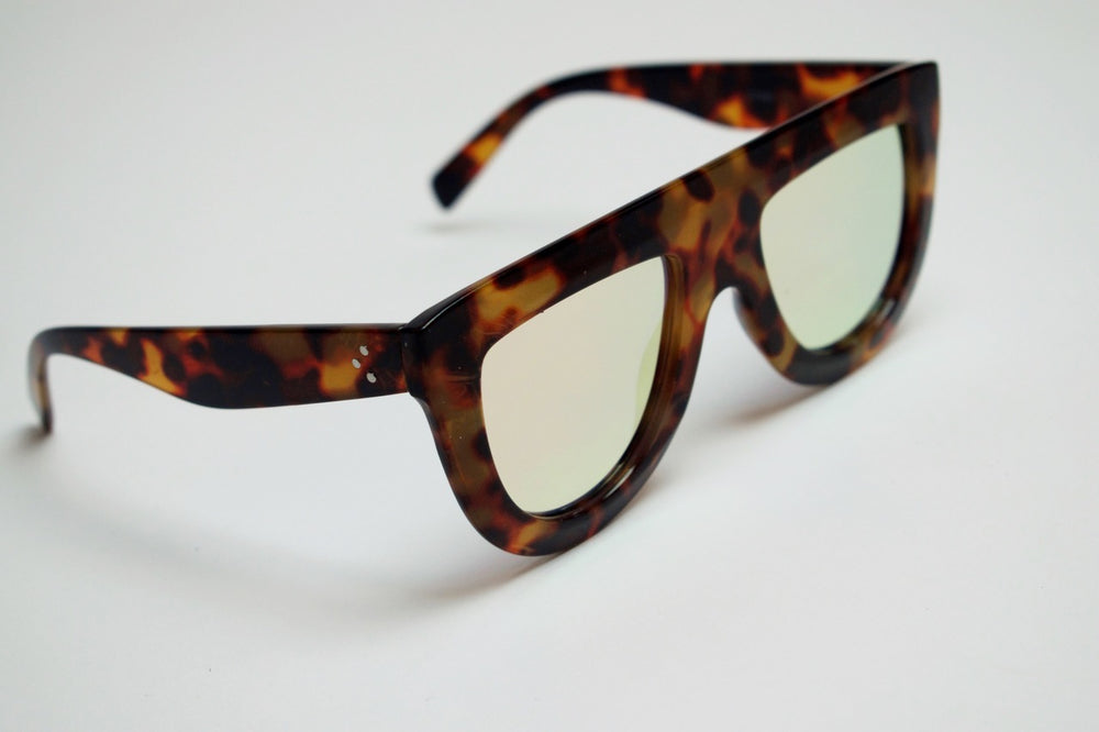 Galaxy Sunglasses - Cheetah Peach