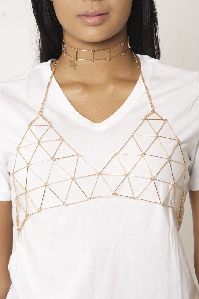 Gold Triangle Bralette