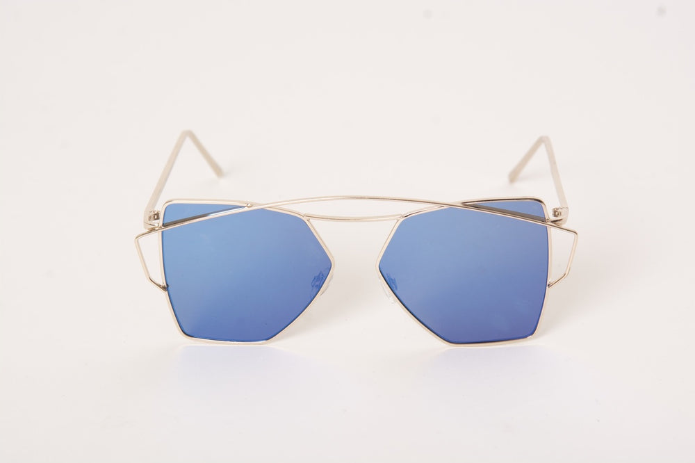 Top Flight Blue Sunglasses - Gold