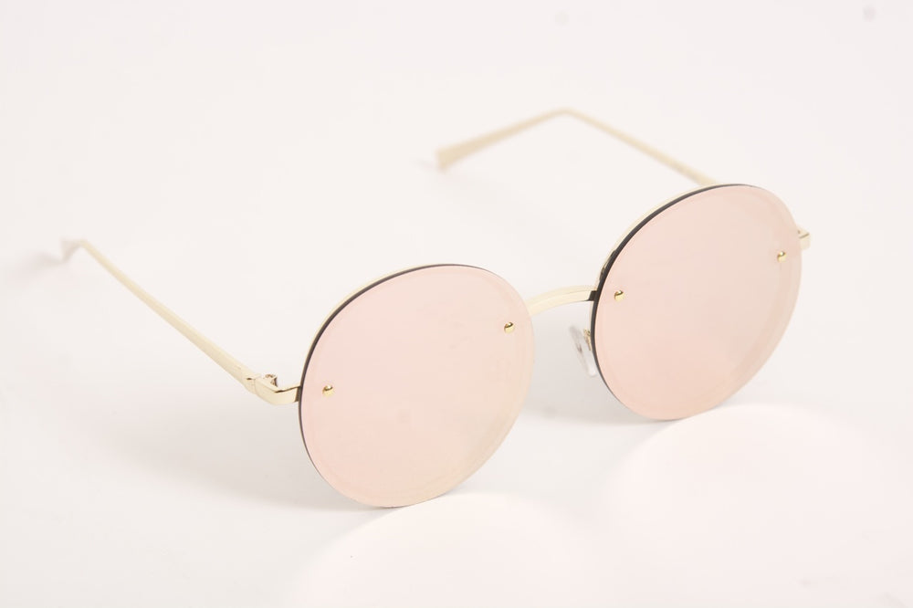 Retro Sunglasses - Rose Reflector