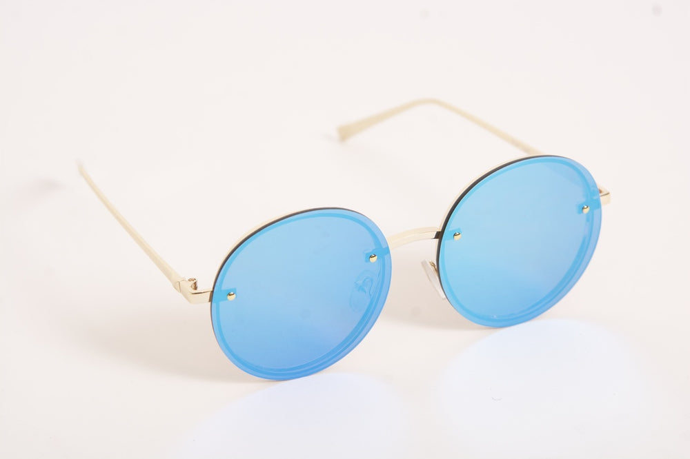 Retro Sunglasses - Blue Reflector