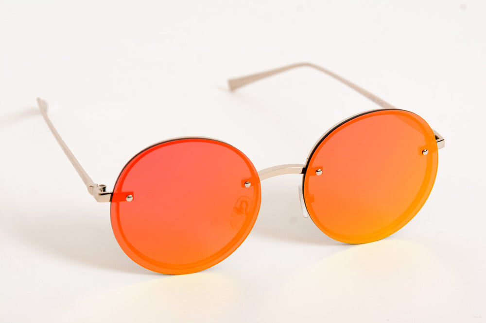 Retro Sunglasses - Mai Tai Red