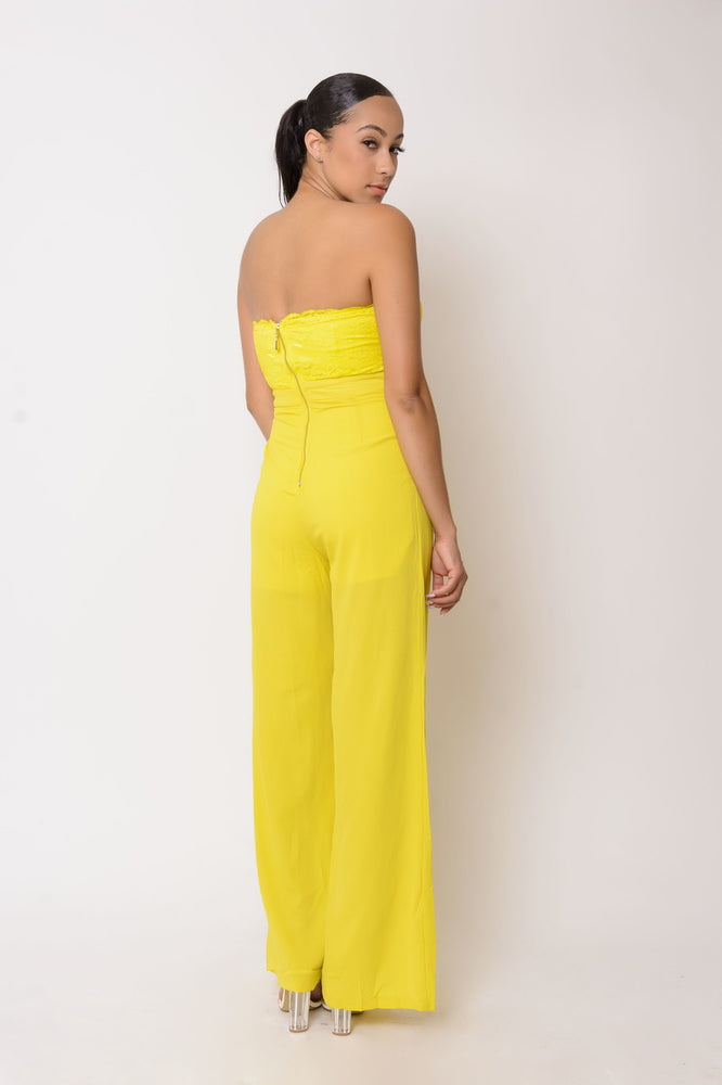 Athena Yellow Jumpsuit