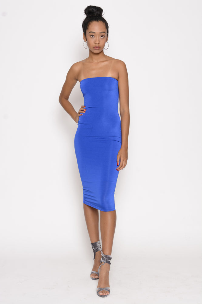 Wild Thing Bodycon Tube Dress - Royal Blue