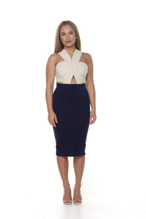 Nikki Mid Skirt - Navy