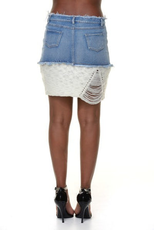 Denim Sweater Skirt