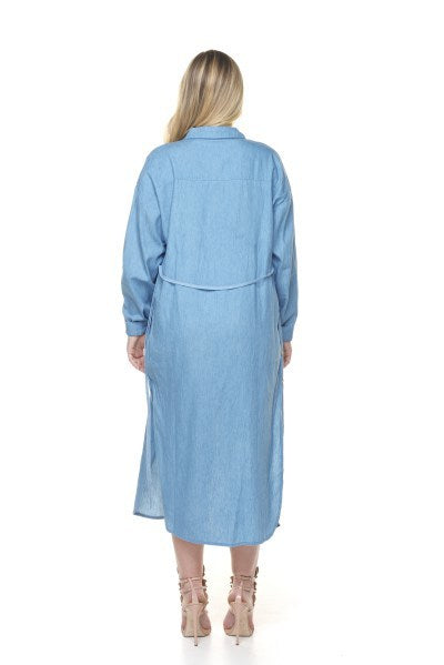 Stand Out Denim Shirt Dress