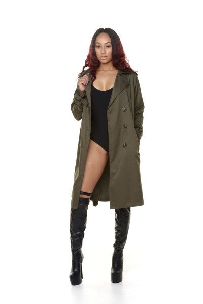 Classic Trench Coat - Olive