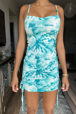 Lea Tie Dye Dress - Jade
