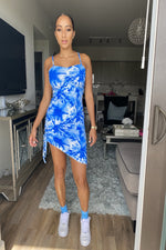 Lea Tie Dye Dress - Blue