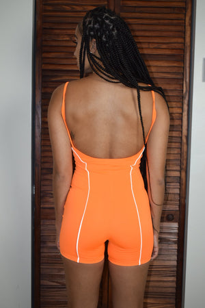 Neon Dreams Jumpsuit - Orange