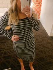 Perfect Striped Midi