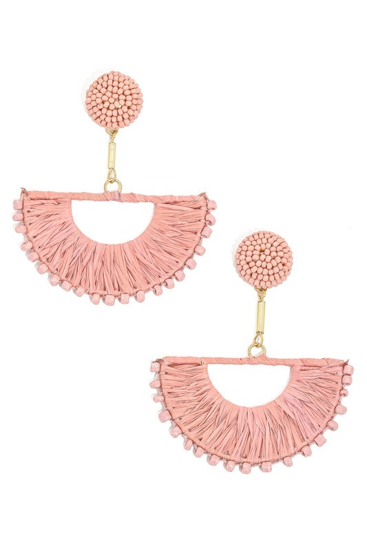 Mauve Fan Earrings