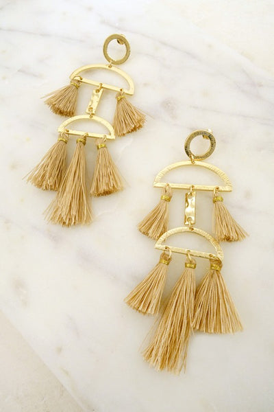 Geo Tassel Earrings