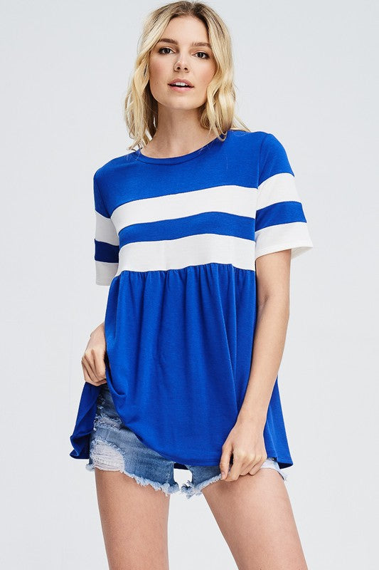 Stripe Baby Doll Top