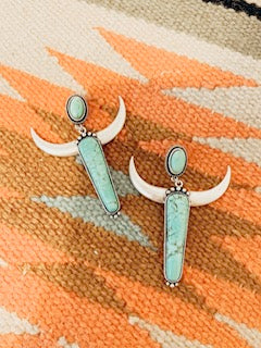 Cowgirl Longhorn Earrings