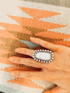 White Turquiose Ring
