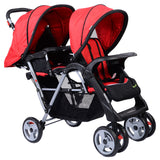 3 Color Foldable Twin Baby Double Stroller