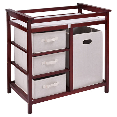 Infant Baby Changing Table with 3 Baskets