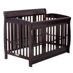 Coffee Convertible Pine Wood Baby Toddler Bed