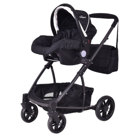 3 In1 Foldable Baby Kids Travel Stroller
