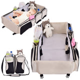 3 in 1 Portable Infant Bassinet Diaper Bag Beige