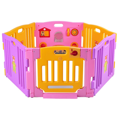 6 Panel Baby Playpen Kids Safety Play Center Yard