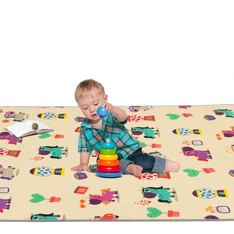 "67"" x 59"" Waterproof  Folding Baby  Floor Play Mat"