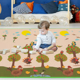 "79"" x 59"" Folding Waterproof Baby Reversible Floor Playmat"