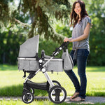 Folding Aluminum Baby Stroller Baby Jogger with Diaper Bag