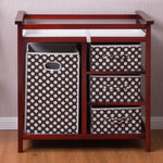 2 Colors Baby Diaper Storage Changing Table w- 3 Baskets