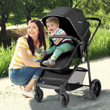 2 in 1 Foldable Pushchair Newborn Infant Baby Stroller