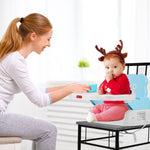 Adjustable Height Portable Folding Booster Toddler Chair Tray