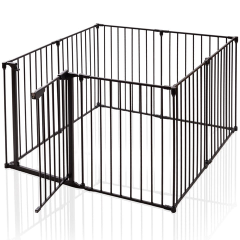 8 Panels Metal Gate Baby Fence Safe Playpen Barrier