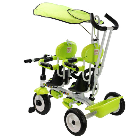 4 In 1 Twins Kids Baby Stroller Safety Double Rotatable Seat