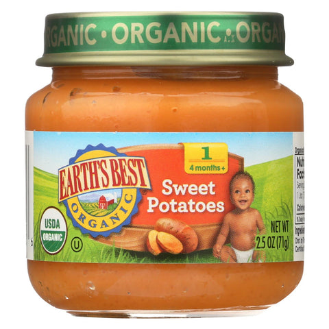 Organic Baby Food - Sweet Potatoes - Stage 1 - 2.5 Oz. Jars - 12 count