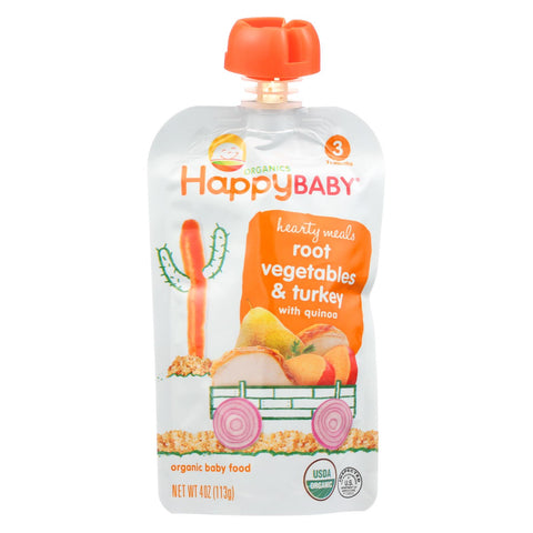 Organic Baby Food Hearty Meals - Stage 3 - Root Vegetables & Turkey with Quinoa - 4 Oz. Pouches - 16 count