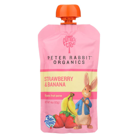 Fruit Puree - Strawberry And Banana - 4 Oz. Pouches - 10 count