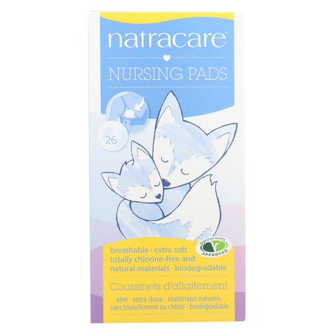 Natural Nursing Pads - Breathable Extra Soft Totally Chlorine Free Natural Materials Biodegradable - 26 Count