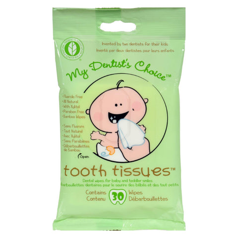 Tooth Tissues Dental Wipes for Baby and Toddler Teeth - 30 count